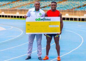 Ferdinand Omanyala 's Olympic dream receives boost as Odibets Intervenes