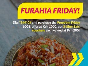 Purchase Telkom Kenya's Freedom Friday Bundle and Get Free UberEats Vouchers