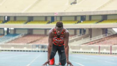 Kenyan sprinter Mark Otieno