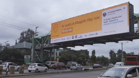 Digital billboards bring real-time air pollution data to Nairobi